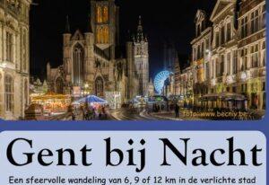 Busuitstap avondwandeling Gent bij Nacht